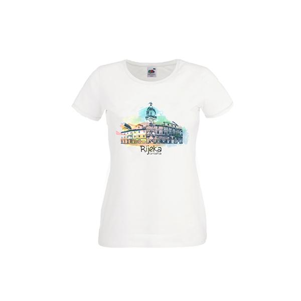 Ženska majica suvenir Rijeka Aquarel
