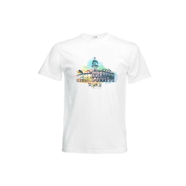 Muška majica suvenir Rijeka aquarel